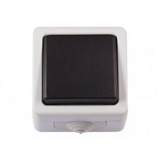 Выключатель LUXEL DEBUT 6502 (1кл./серый)