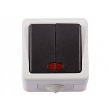 Выключатель LUXEL DEBUT (2кл./с подсветкой)
