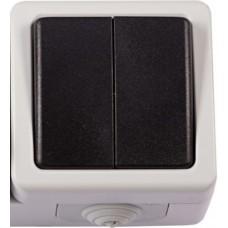 Выключатель LUXEL DEBUT 6503 (2кл./серый)