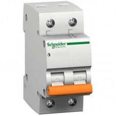 Выключатель автоматический Schneider ВА63 2П 25А С 11215