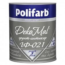 Грунтовка Polifarb DekoMal ГФ-021 (0,9 кг/красно-коричневая)
