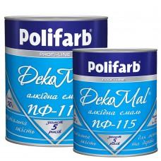 Эмаль алкидная Polifarb DekoMal ПФ-115 (0,9 кг/белая)