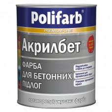 Краска для бетонных полов серая Polifarb Акрилбет (14кг.)