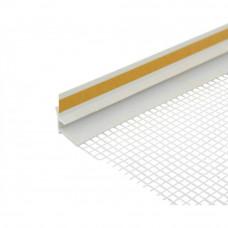 Профиль оконный примыкающий ПВХ с сеткой (2,4м)