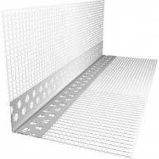 Уголок алюминиевый перфорированный с сеткой (2,5м)