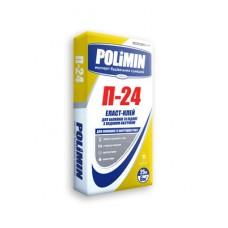 Клей для плитки эластичный Полимин П-24 (Polimin) (25кг)