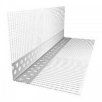 Уголок ПВХ перфорированный с сеткой (2,5м)